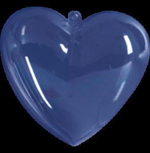 Átlátszó műanyag szívek