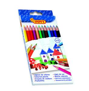 Színes ceruza készlet hatszögletű