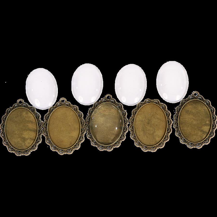 6a91b9d13 Fém ékszeralapok - Fém kiegészítők - Pentacolor